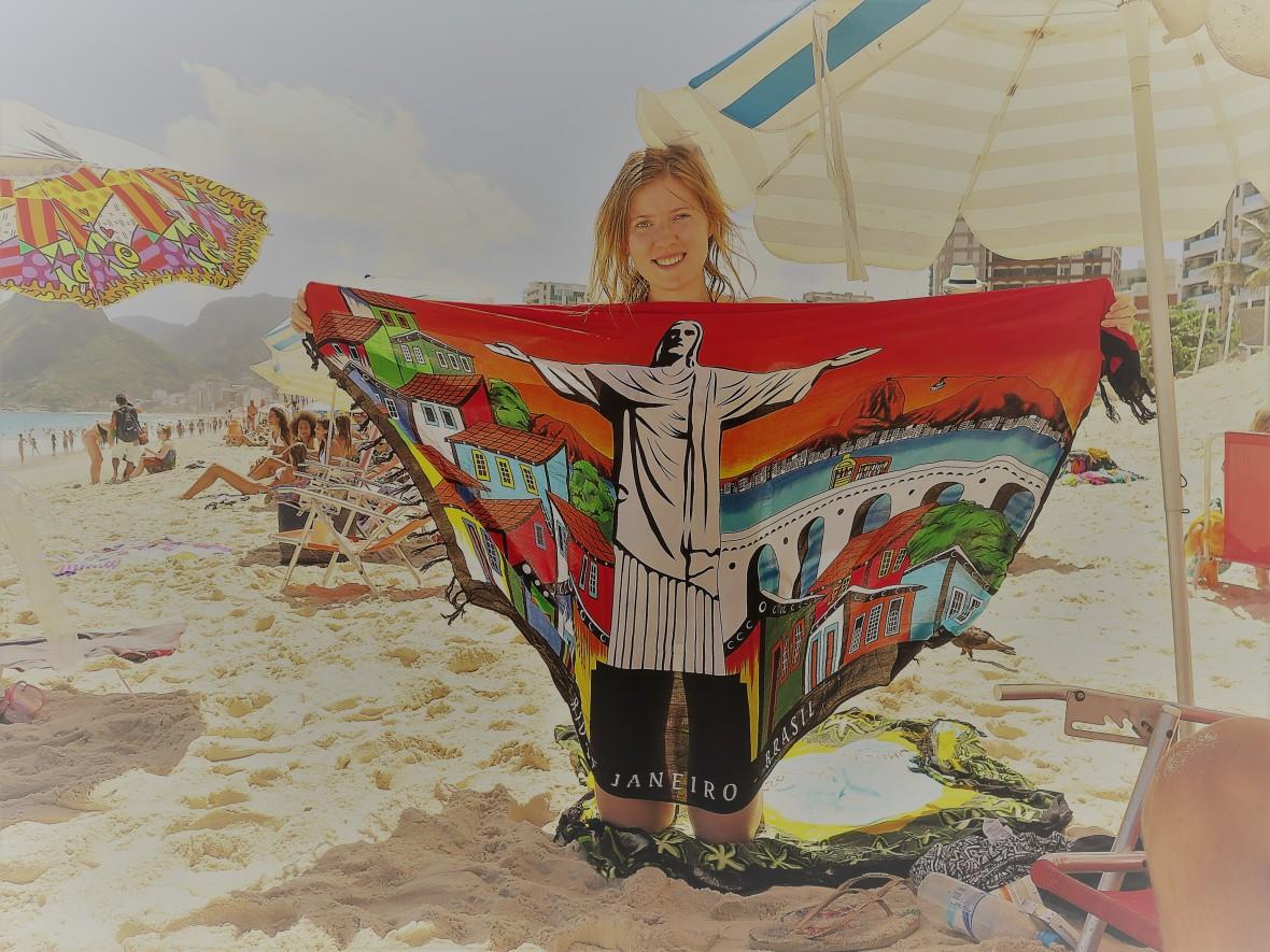 Iapnema - nowa chusta z wizytówką Rio de Janeiro / Ipanema - a new scarf with a showcase of Rio de Janeiro